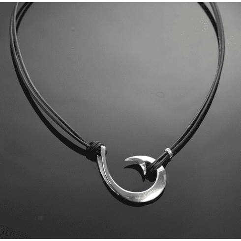 2 In 1 Sterling Silver Circle Hook Pendant
