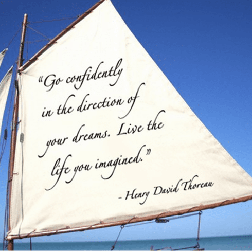 """24"""" x 25"""" Wooden Sailboat with Quote"""