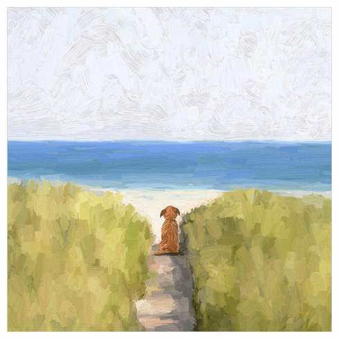 A Quiet Day At The Beach Wrapped Canvas