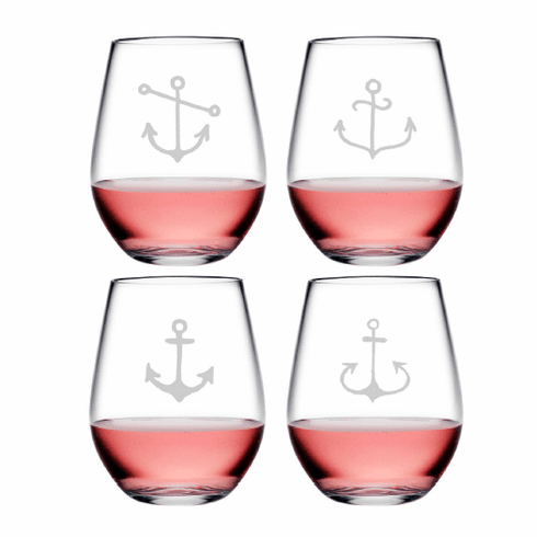 Ahoy! Assortment Tritan Shatterproof Stemless Wine Tumblers