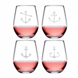 Ahoy! Assortment Tritan Shatterproof Stemless Wine Tumblers - Click to enlarge