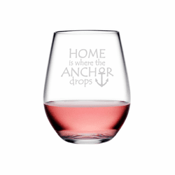Anchor Drops Tritan Shatterproof Stemless Wine Tumblers - Click to enlarge