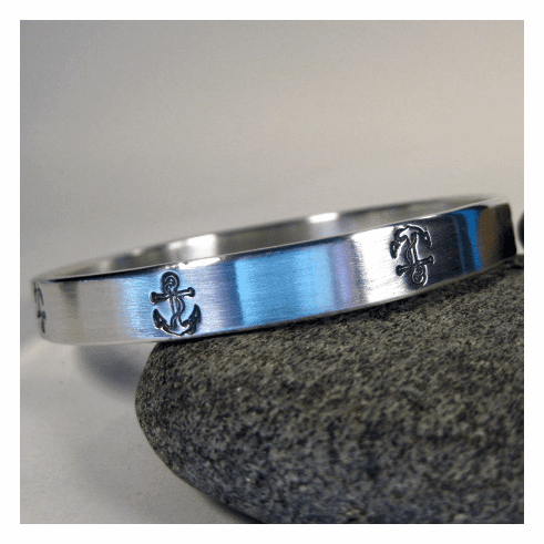 Anchor Sterling Silver Bangle Bracelet