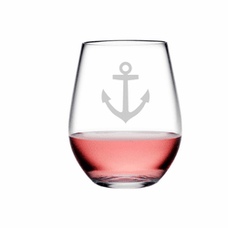 Anchor Tritan Shatterproof Stemless Wine Tumblers - Click to enlarge