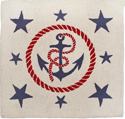 Anchors Away Square Rug - Click to enlarge