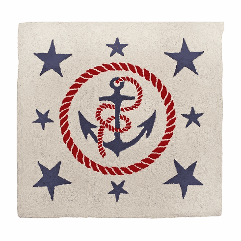 Anchors Away Square Rug
