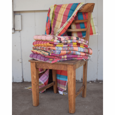 Assorted Recycled Cotton Throws - Set of 6