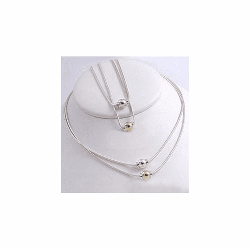 Beach Collection - Snake Necklace with Single Ball