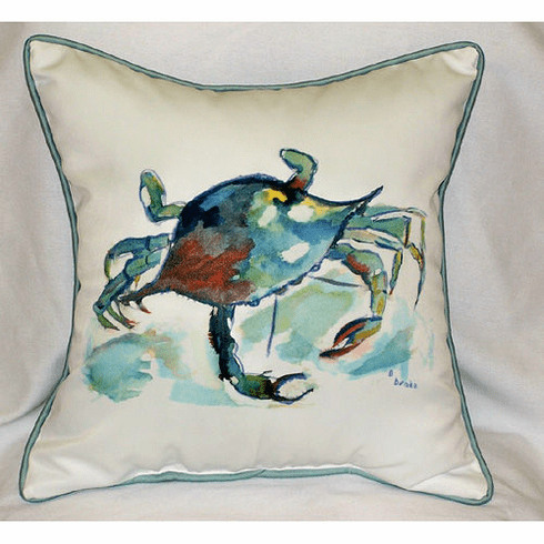 Betsy's Crab Indoor and Outdoor Pillow