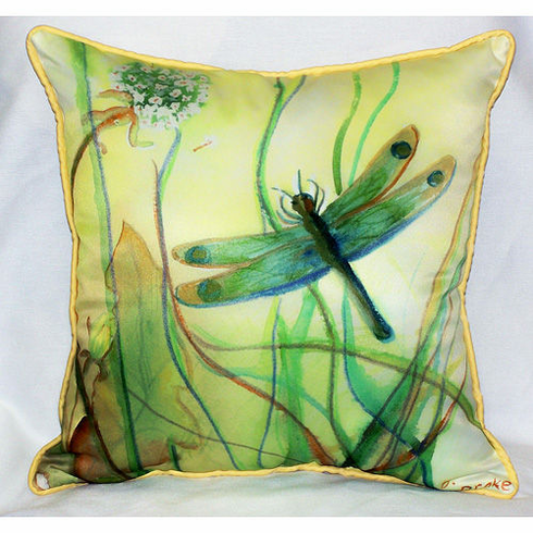 Betsy's Dragonfly Indoor and Outdoor Pillow