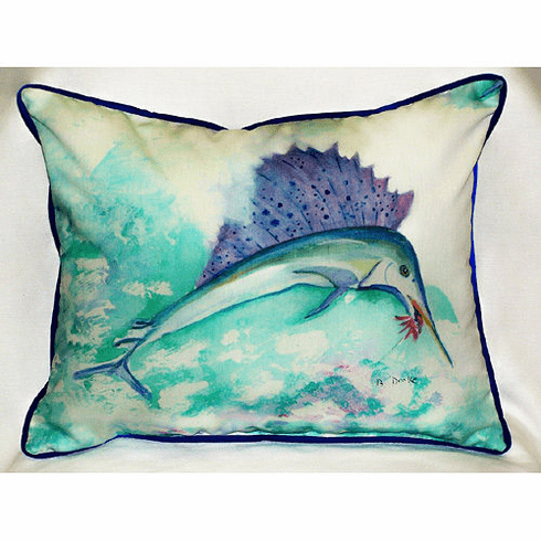 Betsy's Sailfish Indoor and Outdoor Pillow