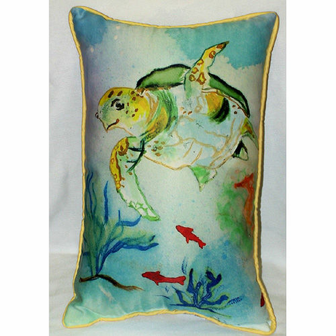 Betsy's Sea Turtle Indoor and Outdoor Pillow