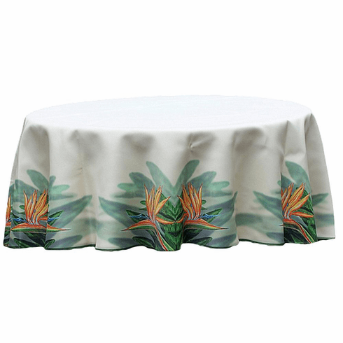 Bird of Paradise Flower Round Tablecloth