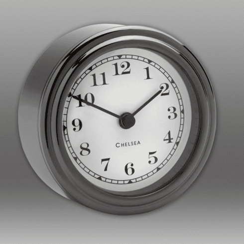 Black Titanium Harwich Desk Clock