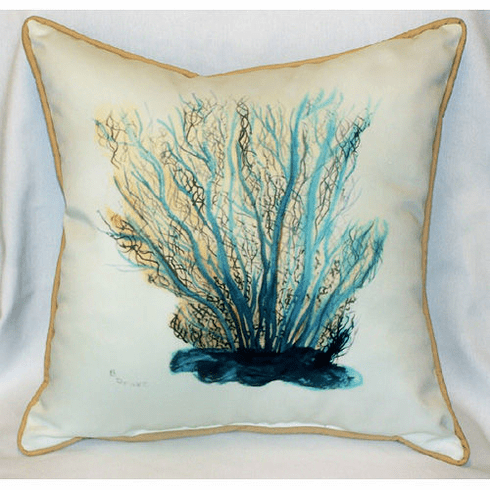 Blue Coral Indoor and Outdoor Pillow
