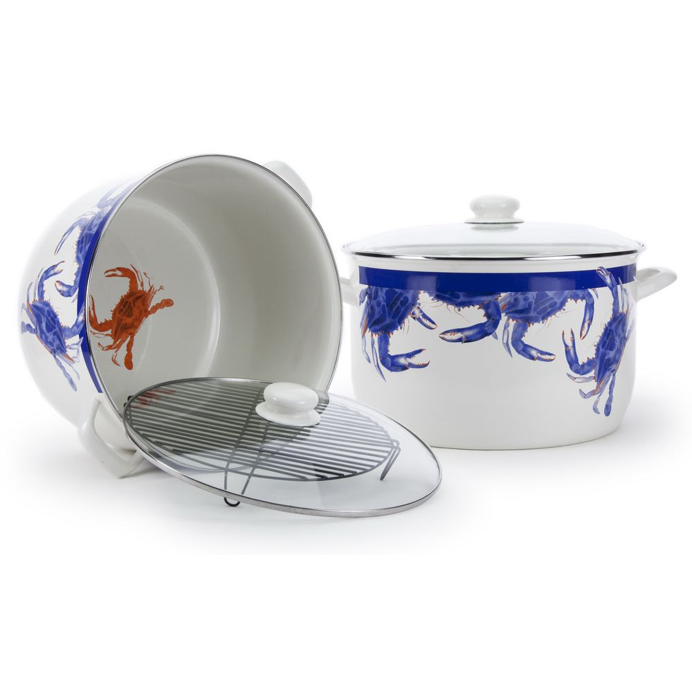 Blue Crab Stock Pot with Rack