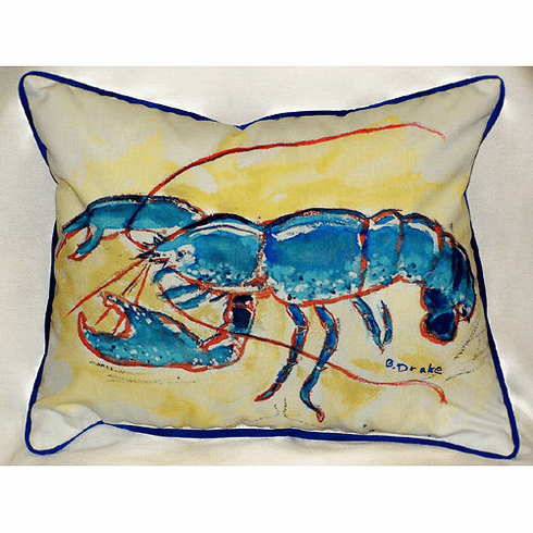 Blue Lobster Indoor and Outdoor Pillow