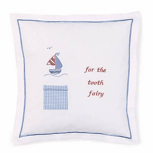 Blue Sailboat Tooth Fairy Pillow