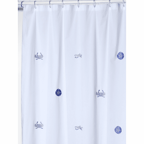 Blue Sea Life Shower Curtain