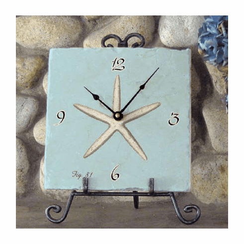 Blue Valerio Starfish Clock
