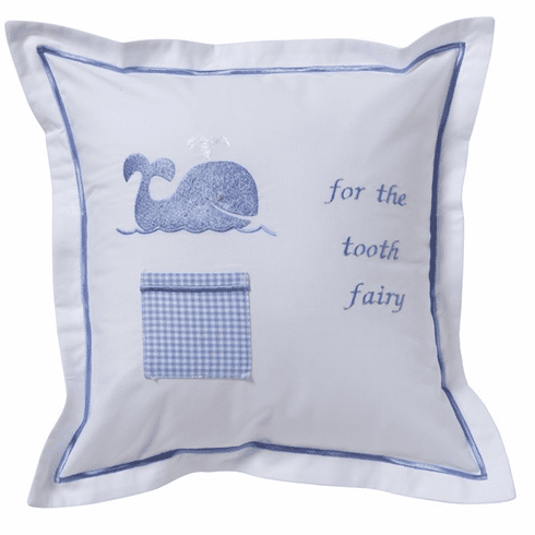 Blue Whale Tooth Fairy Pillow