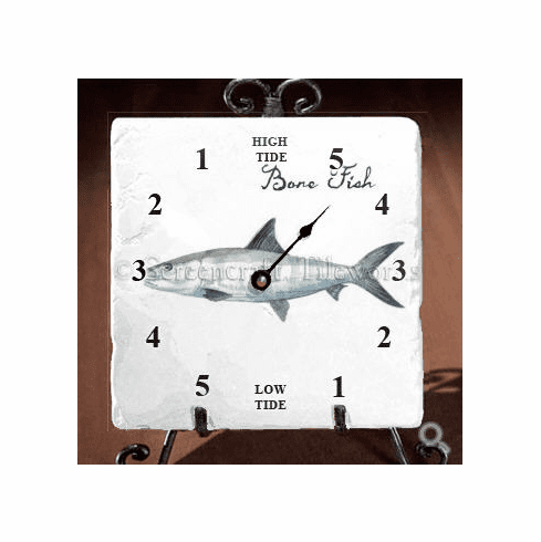 Bone Fish Tide Clock