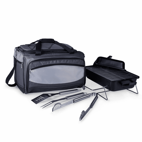 Buccaneer Portable Charcoal Grill & Cooler Tote