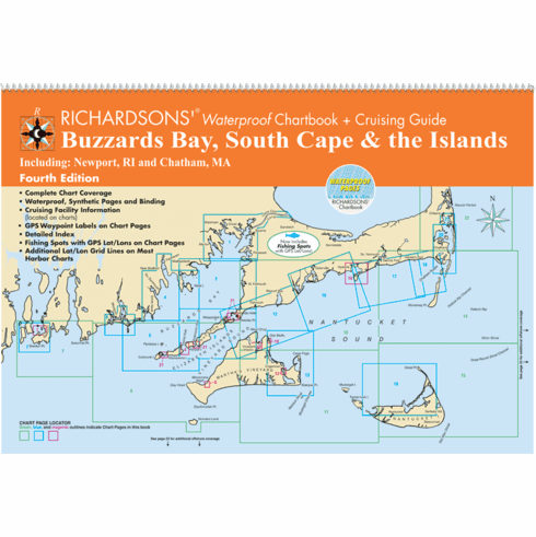 Buzzards Bay, South Cape & the Islands Waterproof Chartbook ,4th Edition
