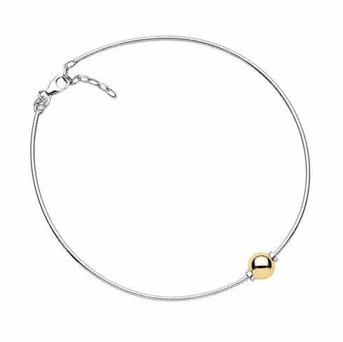 Cape Cod Yellow Gold Omega Anklet