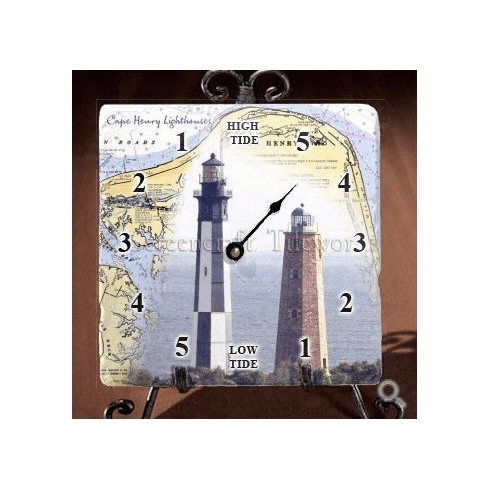 Cape Henry Map &  Lighthouse Tide Clock