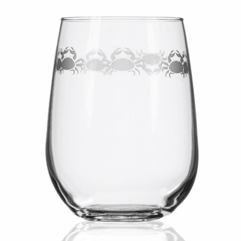 Cast of Crabs Stemless Wine Glasses