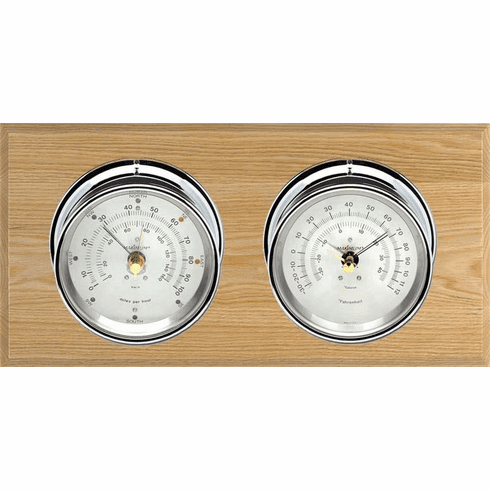 Catalina Chrome, Silver Dials & Oak Weather Station