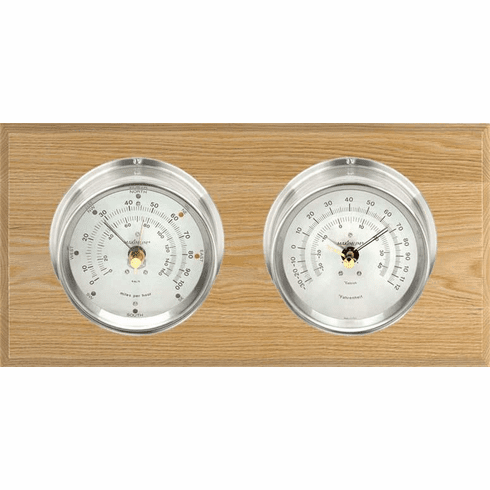 Catalina Nickle, Silver Dials & Oak Weather Station