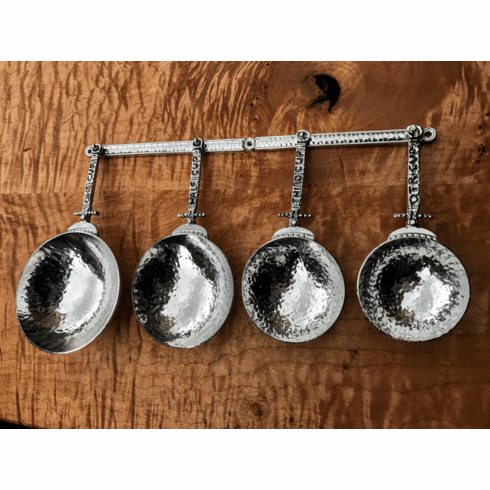 Celtic Pewter Measuring Cups with Wall Strip