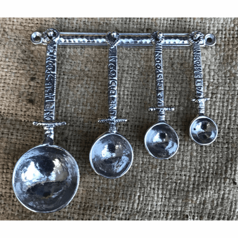 Celtic Pewter Measuring Spoons with Wall Strip