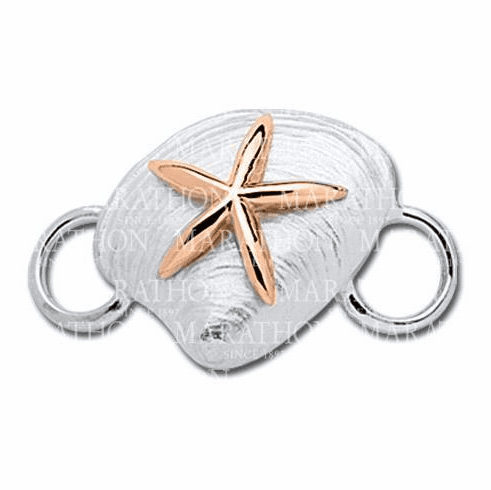 Clam with Rose Gold Starfish Convertible Clasp