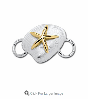 Clam with Starfish Convertible Clasp - Click to enlarge