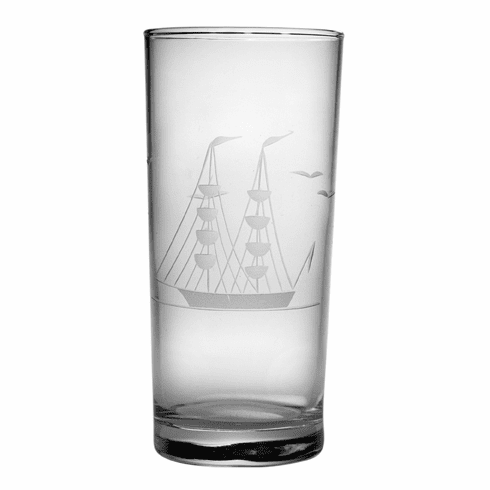 Clipper Ship Highball Glasses