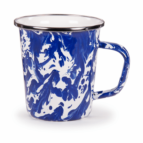 Cobalt Swirl Latte Mug - set of 4