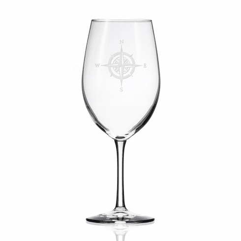 Compass Rose AP Wine Glasses