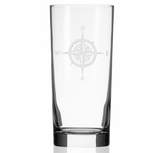 Compass Rose Cooler Highball Glasses