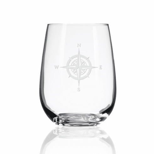 Compass Rose Stemless Wine Tumblers