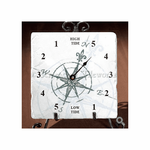 Compass Rose Tide Clock