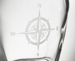 Compass Rose Whiskey Decanter - Click to enlarge
