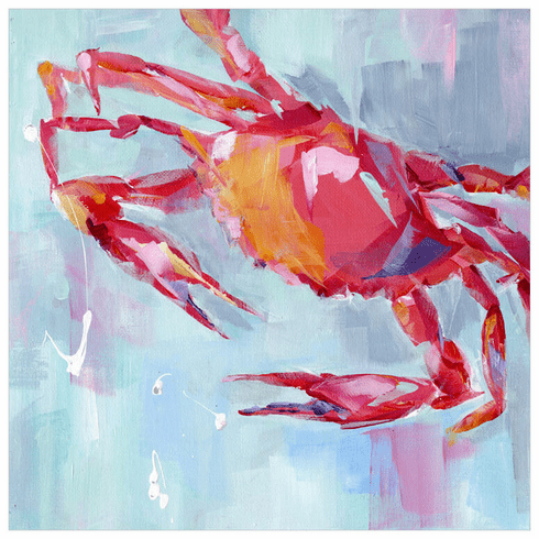 Crab Red Wrapped Canvas