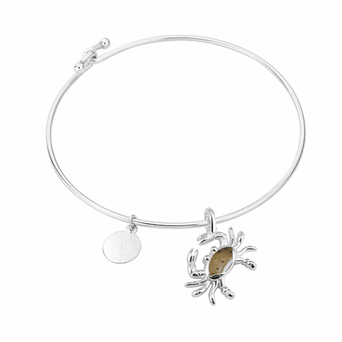 Crab Sterling Bangle