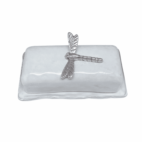 Dragonfly Ceramic Butter Dish
