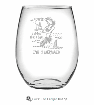 Drink Like A Fish Tritan Shatterproof Stemless Wine Tumblers - Click to enlarge