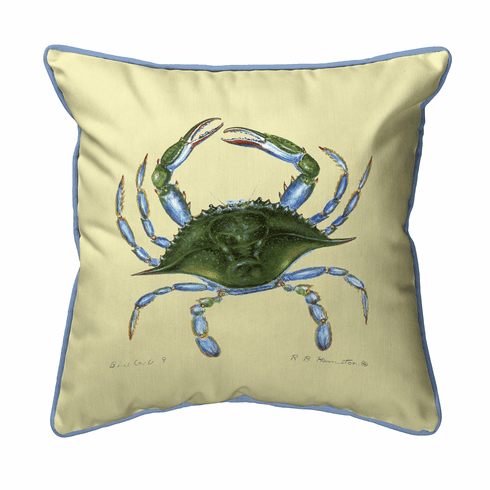 Female Blue Crab Indoor and Outdoor Pillow