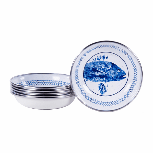 Fish Camp Enamel Tasting Dish - set of 6